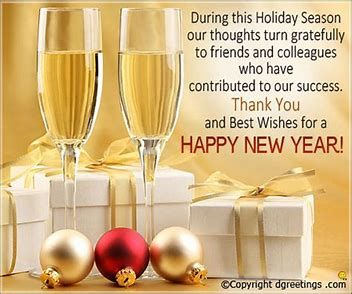 Happy New Year to all our customers Hope  it will be a good one